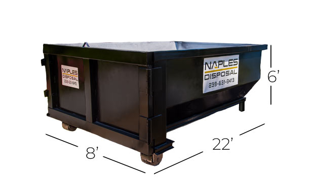 30 Yard Dumpster Proportions | Naples Excavating & Disposal, LLC. - Southwest Florida Dumpster Rentals